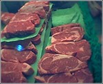 Beef cuts at the market